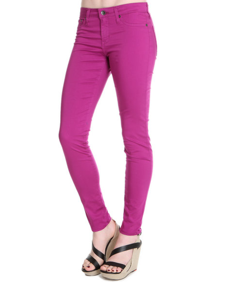 Djp Outlet - Women Pink Big Star Alex Mid Rise Skinny Cotton Satin Pant