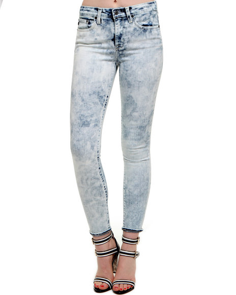Djp Outlet - Women Light Blue Big Star Avalon High Rise Skinny Acid Wash Denim