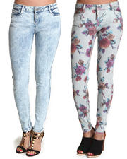 Jeggings  - BleuLab Reversible Ikat 8 Pocket Denim Leggings
