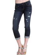 Women - Cult Of Individuality Jetty Destroyed Capri Jeans