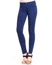 Skinny - Big Star Alex Mid Rise Skinny Stretch Exotic Print Jean