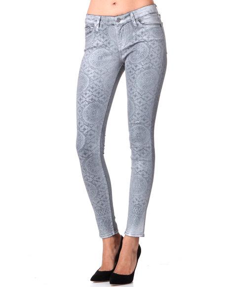 Djp Outlet - Women Silver Artisan Tile Laser Pant