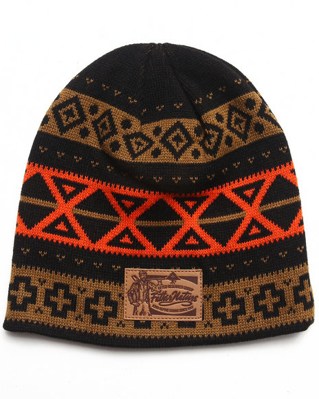 Lrg Men Father Nature Beanie Black