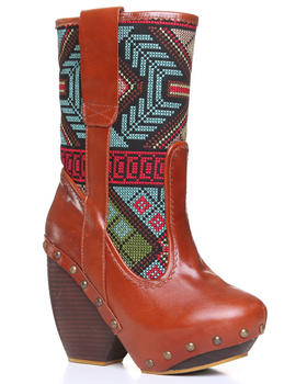 DJP OUTLET - Irregular Choice Mandarim Ikat Print Boot