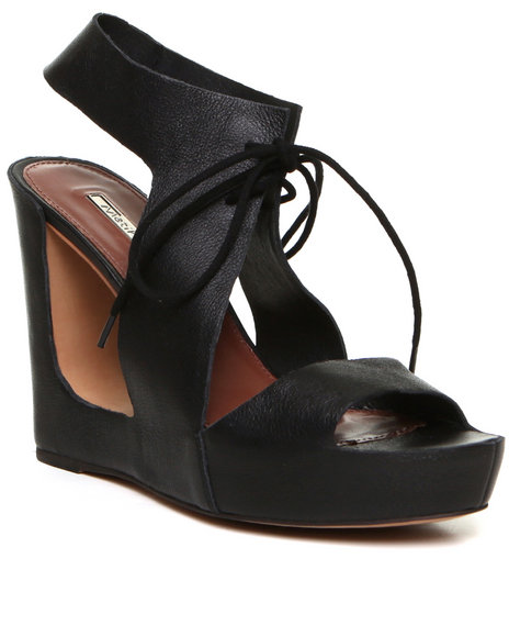 Djp Outlet - Women Black Matiko Elena Wedge Sandal