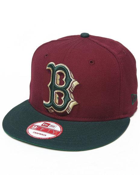 New Era Men Boston Red Sox Beef & Broccoli Edition Custom Snapback Hat Maroon