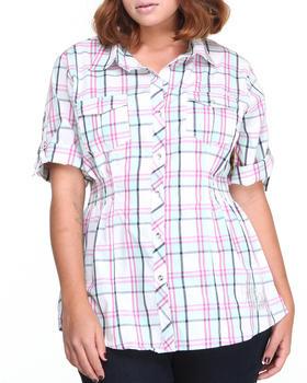 Apple Bottoms - Plaid Smocked Waist Shirt (Plus)