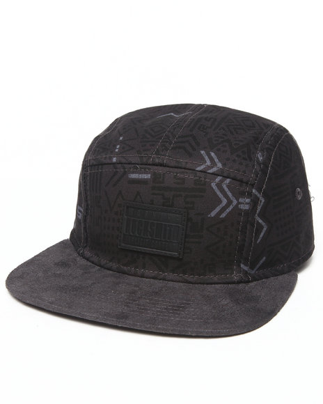 Rocksmith Men Kenta Scribble 5 Panel Strapback Black