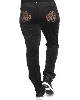 Apple Bottoms - Velour Zip Ankle Skinny Active Pant