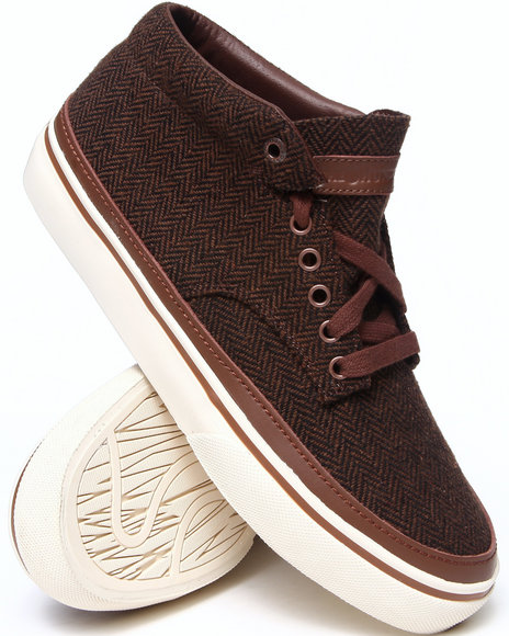 The Hundreds Brown Johnson Mid Tribal Woven Sneakers