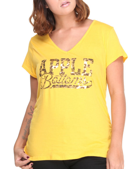 Apple Bottoms - Cheetah Script Logo Tee (Plus)