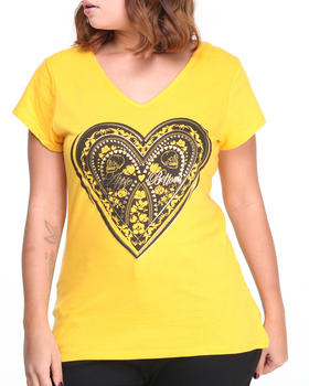 Apple Bottoms - Cage Back Heart Logo Tee (Plus)