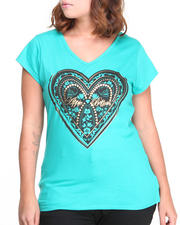 Women - Cage Back Heart Logo Tee (Plus)