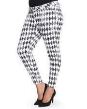 Women - DIAMOND PRINT JEANS (plus)