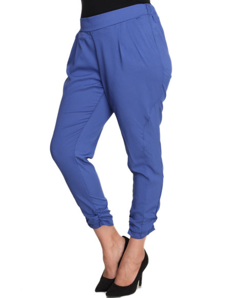 ALI & KRIS Blue Ruched Leg Soft Pant (Plus Size)