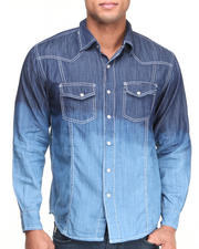 Button-downs - Dip Dye Denim Woven Shirt