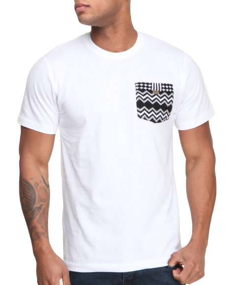 Rocksmith - Men White Freetown Pocket T-Shirt
