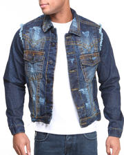 Basic Essentials - Thick Stitch Denim Jacket