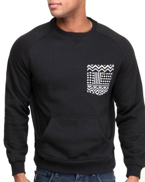 Rocksmith Black Freetown Pocket Crewneck Sweatshirts