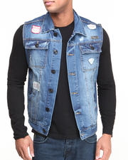 Basic Essentials - Patch Scotch Denim Vest