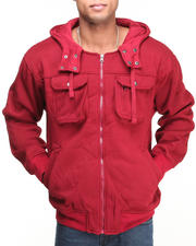 Hoodies - Men's Zip-Up Solid Hoodie