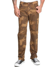 Jeans & Pants - Slim Straight Camo Pants