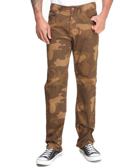 Basic Essentials - Men Camo,Tan Slim Straight Camo Pants