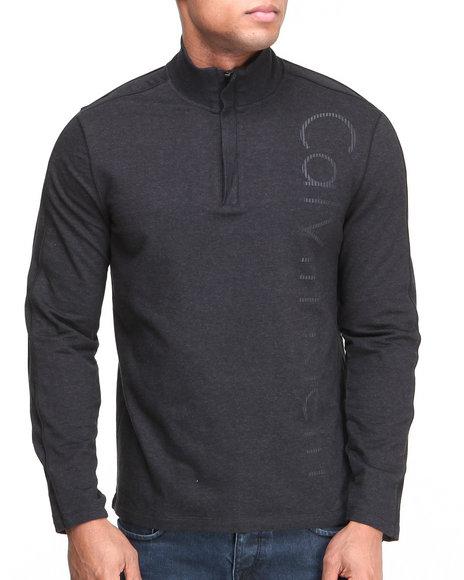 Calvin Klein Black Long Sleeve 1/4 Zip Sporty Pullover