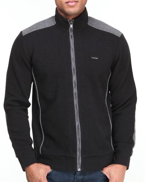 Calvin Klein Black Long Sleeve Full Zip Thermal Jacket