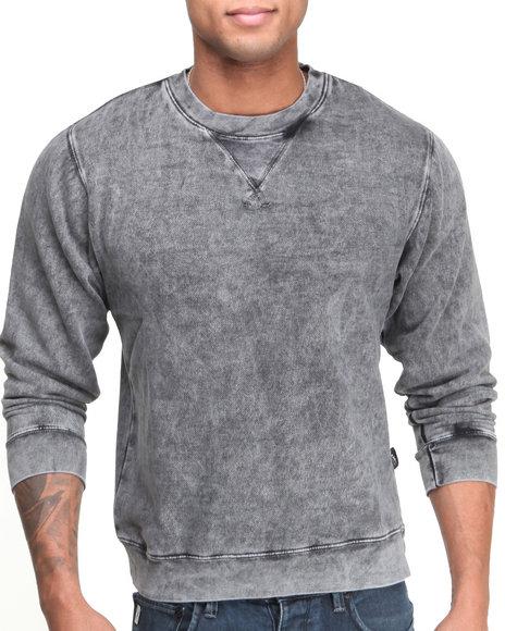 Basic Essentials Black Acid Wash Crewneck Sweatshirt