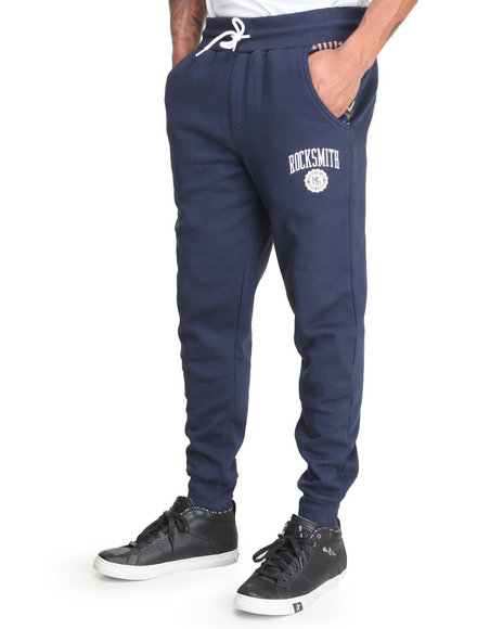 Rocksmith - Men Navy Freetown Slim Sweatpants