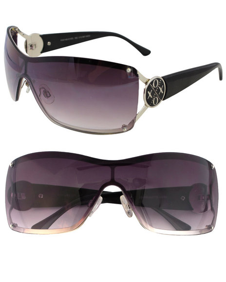 Xoxo Women Gradient Shield Sunglasses Black