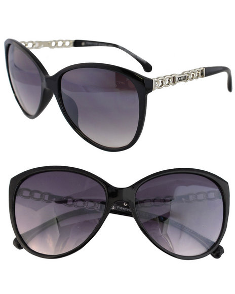 Xoxo Chain Temple Sunglasses Black