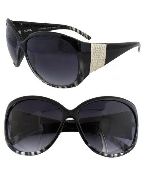 Xoxo Gradient Zebra Sunglasses Black