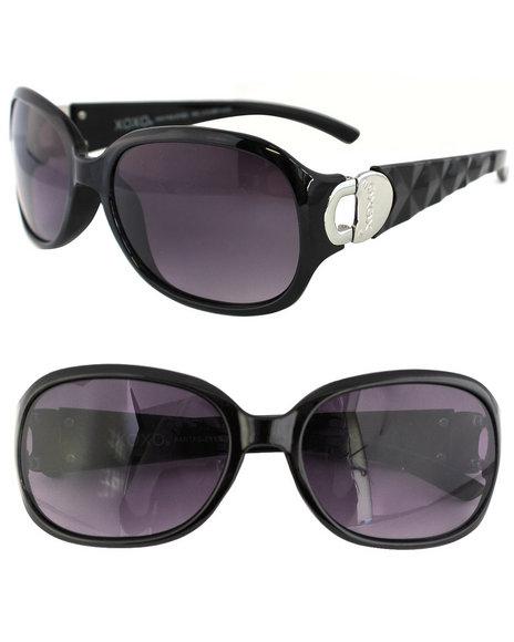 Xoxo Cut-Out Heart Prism Temple Sunglasses Black