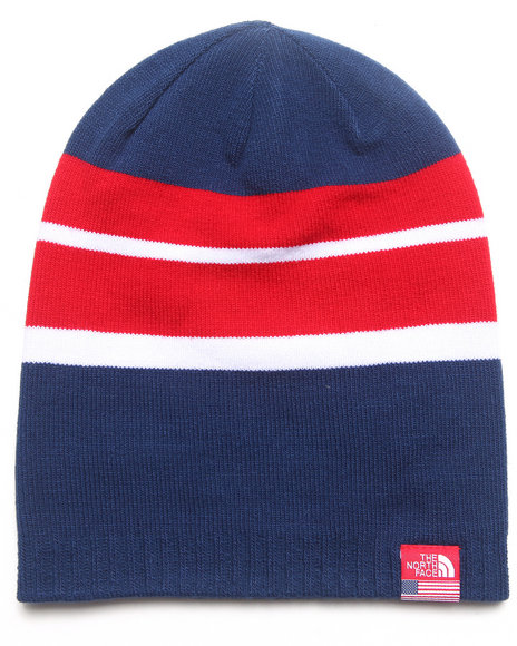 The North Face Boys International Reversible Beanie Blue Medium