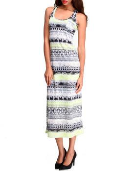 Fashion Lab - Tribal Print Maxi Dress w/ Front Pocket
