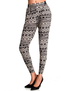 Fashion Lab - Lafayette Tribal Printed Jogger Pants