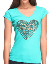 Women - Cage Back  Heart LogoTee