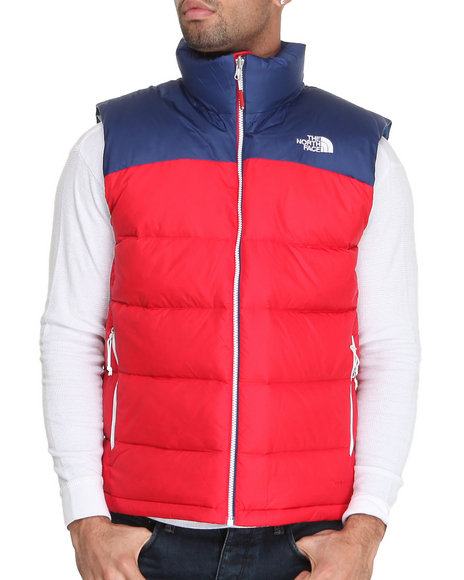 The North Face Blue,Red International Nuptse Vest