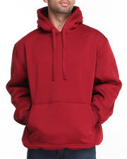 Basic Essentials - Men's Pullover Fleece Hoodie W/ Kangaroo Pocket B&T