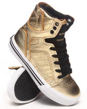 Supra - Skytop Gold Leather Sneakers (Youth)