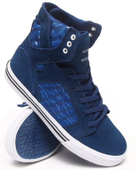 Supra - Boys Blue Skytop Blue Suede/Blue Nylon Sneakers (Kids)