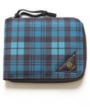 10.Deep - Division Plaid Zip Wallet