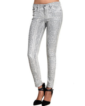 -FEATURES- - Andrea Skinny Rococo Print Jean