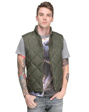 Men - Quilted Vest w/ Deer Print Lining