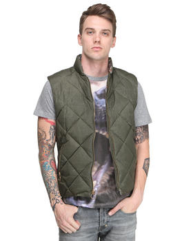 PRPS - Quilted Vest w/ Deer Print Lining
