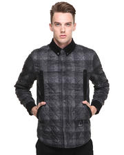 Jackets & Coats - Plaid Lightweight Jacket