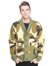 Sweaters - Kaiser Shawl Collar Camouflage Sweater