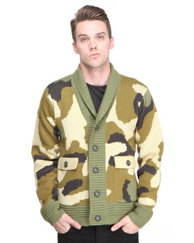 DJP OUTLET - Kaiser Shawl Collar Camouflage Sweater